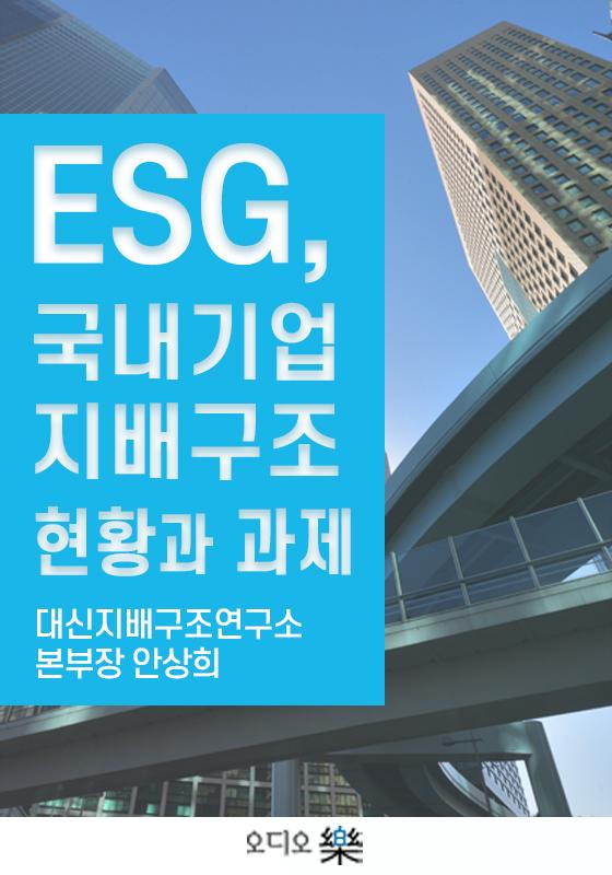 ESG, 국내기업지배구조 현황과 과제의 책표지